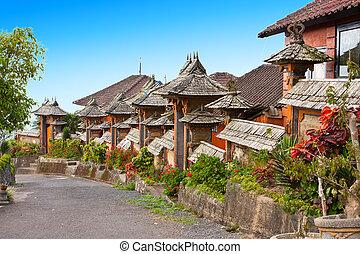rurale, indonesia., bali., strada.