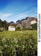 rurale, norvegia, casa