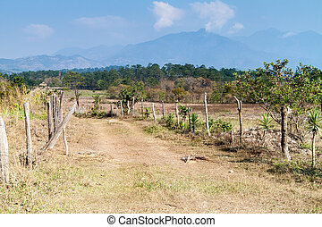 rurale, regione, lempira, paesaggio