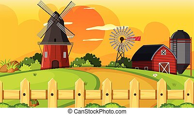 rurale, terreno coltivato, scena