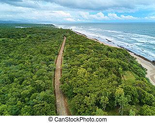 Rurual road in coastline