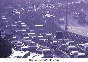 Rush hour in city