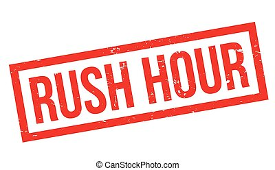 Rush Hour rubber stamp