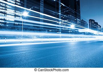 rush hour traffic at night in beijing