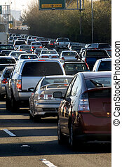 Traffic jam in Bay area, California