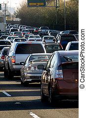 Traffic jam in Bay area, California