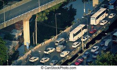 Rush Hour Traffic Over Water