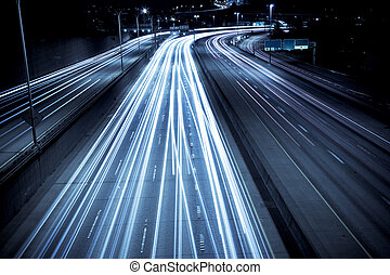Rush hour traffic - A time exposure shot of rush hour...