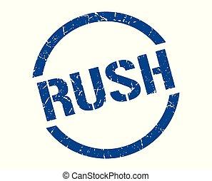 rush stamp - rush blue round stamp