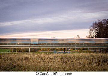 rush time, undergrundsbane tog, motion slør