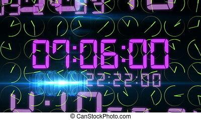 """Rushing decimal digits and revolting clock arrows"""
