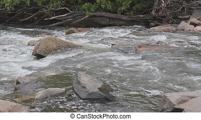 Rushing river.