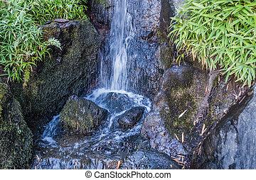 Rushing Waterfall Closeup
