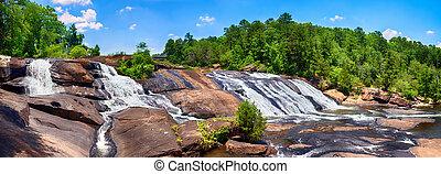 Rushing waterfalls at High Falls State Park near Macon, GA
