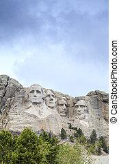 rushmore, monte, monument., nacional, presidentes
