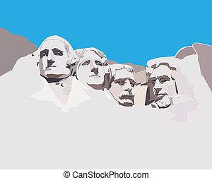 rushmore, monter, monument commémoratif national