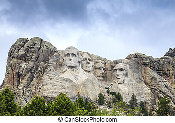 rushmore, monter, monument., national, présidents