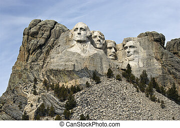 rushmore, opstellen, monument.