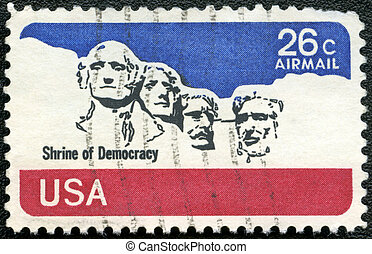 rushmore, uni, usa, timbre, commémoratif, monter, 1974, -, ...