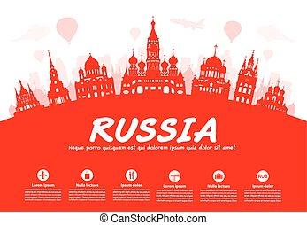 rusia, viaje, landmarks.