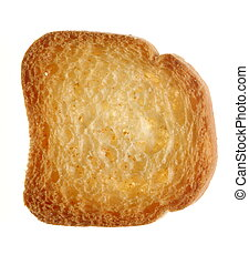 One sweet rusk bread loaf toast biscuit isolated on white. Diet food healthy nutrition.