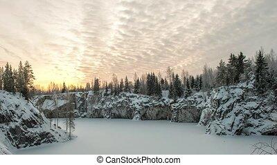 Ruskeala marble quarry, Karelia, Russia