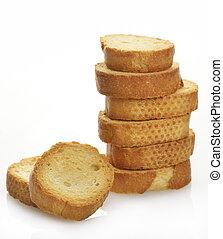 rusks, mucchio, bread