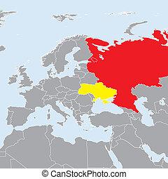 rusland, conflict, europa, kaart, oekraïne