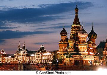 rusland, moskou, st. basilicum, kathedraal