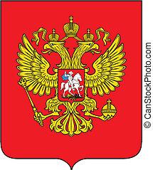 ruso, chamarra, brazos