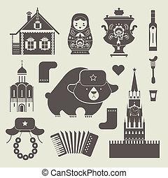 ruso, iconos