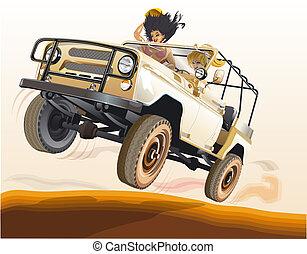 ruso, jeep