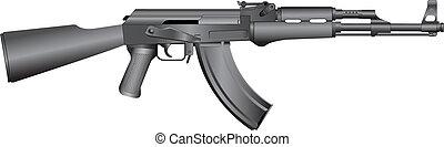 ruso, máquina, ak-47, arma de fuego
