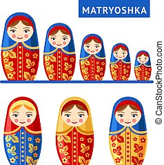 ruso, matryoshka., doll., anidar