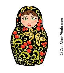 ruso, matryoshka., -, muñecas