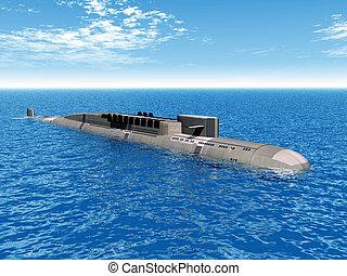 ruso, nuclear, submarino