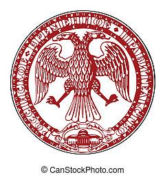 ruso, república, sello