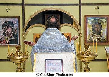 ruso, sacerdote, ortodoxo