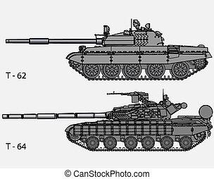 ruso, vector, -, tanques