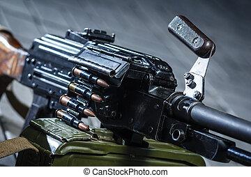ruso, weapon:, soviético, detalle, pkm