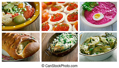 Plaque cr pes traditionnel nourriture russe pile - Cuisine traditionnelle russe ...