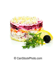 Fourrure coat 39 salade 39 herring traditionnel sous - Cuisine traditionnelle russe ...