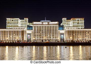 russe, défense, fédération, night., ministère