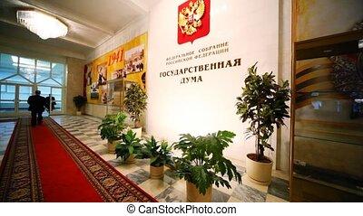 russe, dépassement, parlement, fonctionnaires, salle