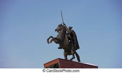 russe, héros, chapaev, monument
