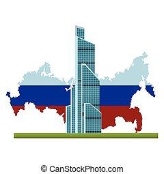russe, international, centre, commercer