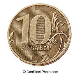 russe, pièces, closeup, rouble