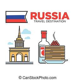 russe, symboles, voyage