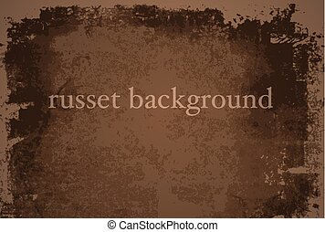 russet background - Vector grunge russet background...