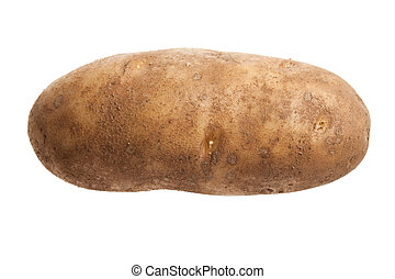 Russet Potato with white background